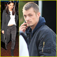 olivia munn hits the town as joel kinnaman films 'the killing'
